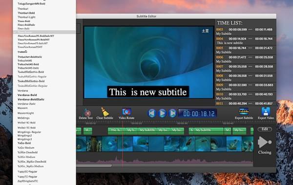 字幕编辑器for Mac