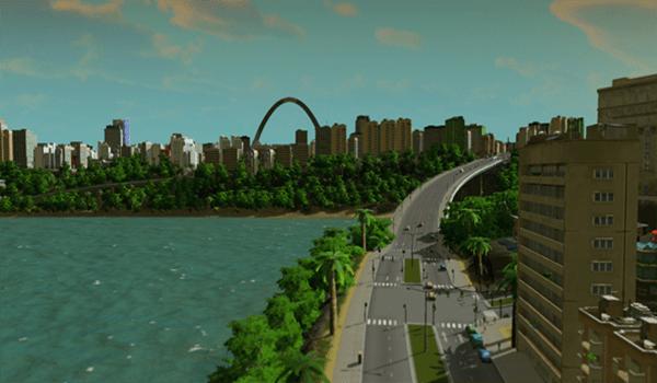 城市天际线绿色都市for Mac
