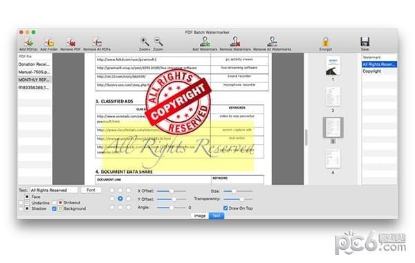 PDF Batch Watermarker for Mac