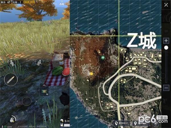 在刺激战场更新的第一周的任务中有一个任务就是找到海岛地图的野餐