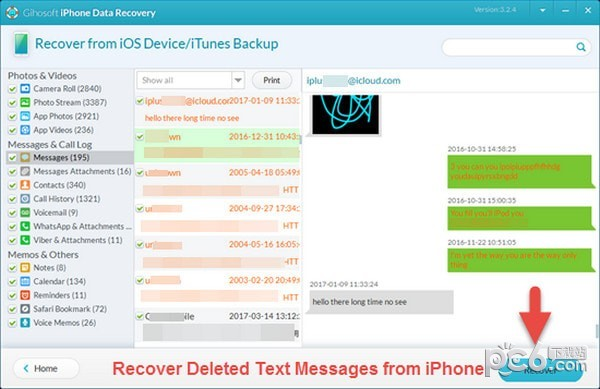 Gihosoft iPhone Data Recovery(iPhone数据恢复软件)