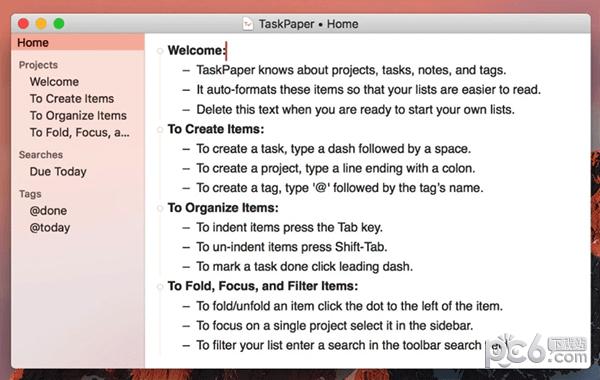 TaskPaper Mac版