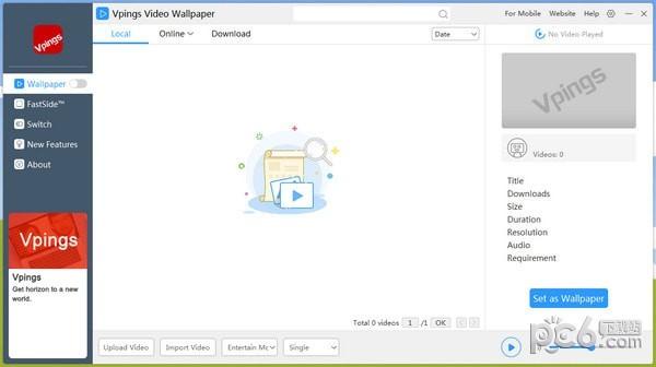 Vpings Video Wallpaper(视频桌面软件)