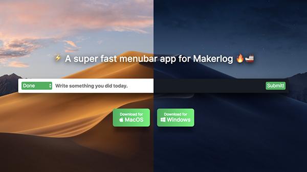 Makerlog Menubar Mac版
