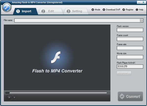 Amazing Flash to MP4 Converter(Flash到MP4转换器)