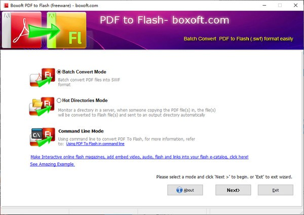 Boxoft PDF to Flash(PDF转FLASH工具)
