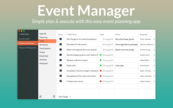 Event Manager Mac版